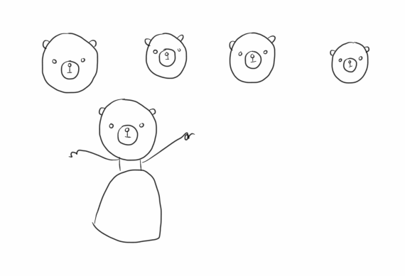 Sketch Bear Princess
