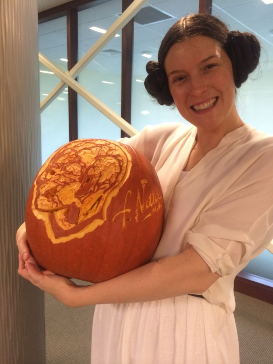 me and my prize-winning pumpkin 2014