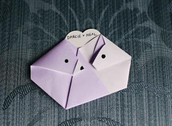 bear and bobcat origami